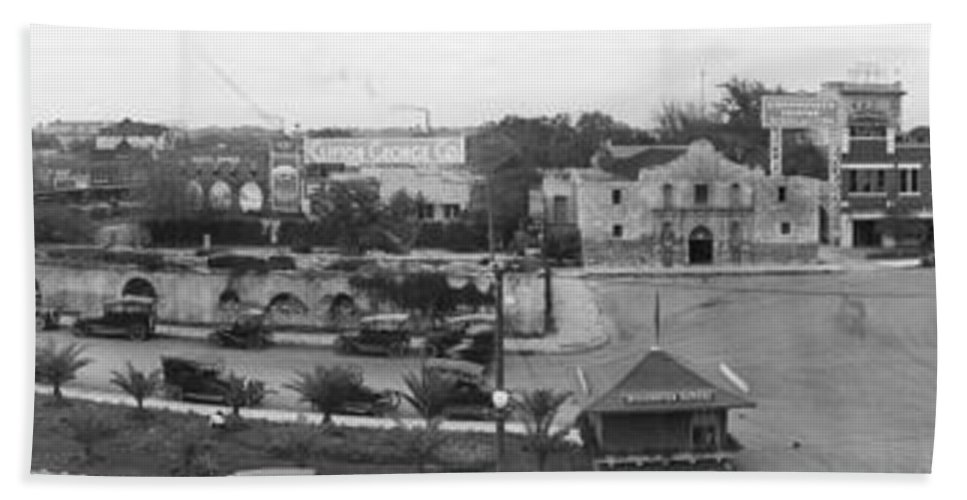 San Antonio Bath Sheet featuring the photograph San Antonio 1918 by Jerry McElroy