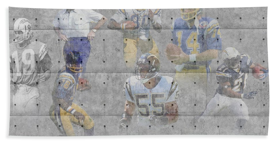 Chargers Bath Sheet featuring the photograph San Diego Chargers Legends by Joe Hamilton