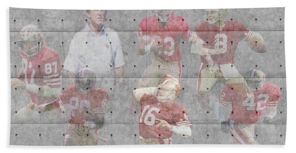 49ers Bath Sheet featuring the photograph San Francisco 49ers Legends by Joe Hamilton