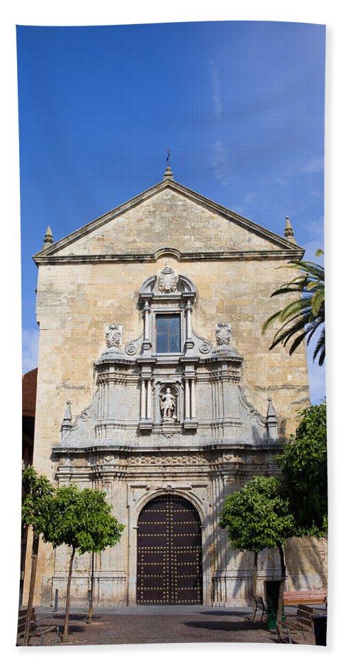 Church Bath Sheet featuring the photograph San Francisco Church In Cordoba by Artur Bogacki