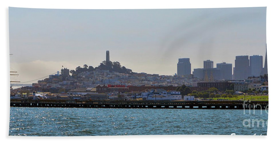 Skyline Hand Towel featuring the photograph San Francisco Skyline -2 by Tommy Anderson