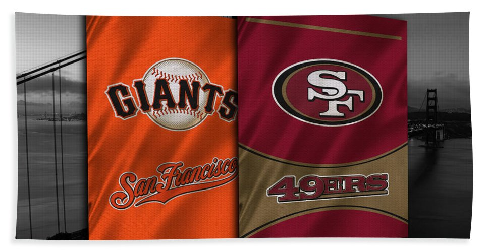 Giants Bath Towel featuring the photograph San Francisco Sports Teams by Joe Hamilton
