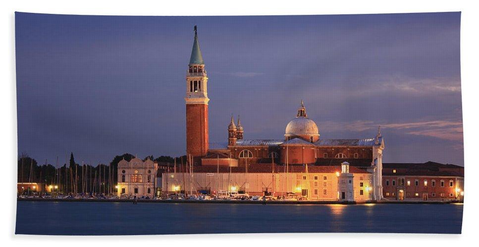 Adriatic Sea Hand Towel featuring the photograph San Giorgio Maggiore Island Venice Italy by Ivan Pendjakov