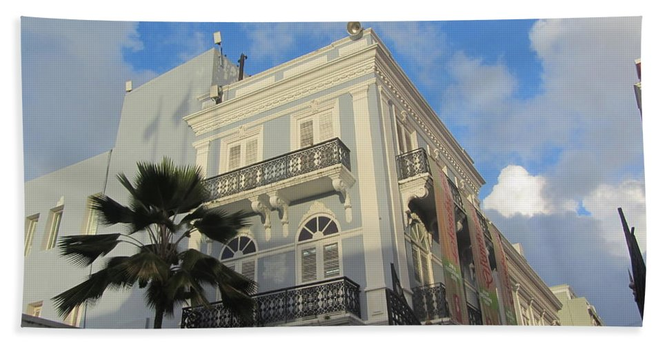 Architecture Bath Sheet featuring the photograph San Juan Architecture 1 by Anita Burgermeister
