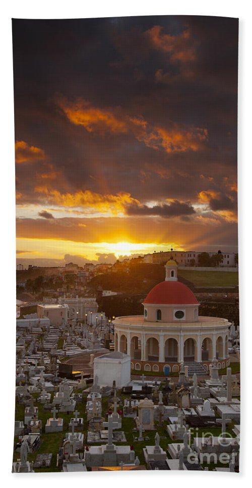 Sunrise Bath Sheet featuring the photograph San Juan Sunrise by Brian Jannsen