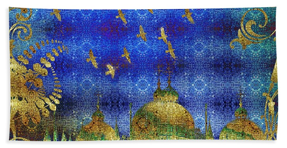 San Marco Hand Towel featuring the digital art San Marco by Mo T