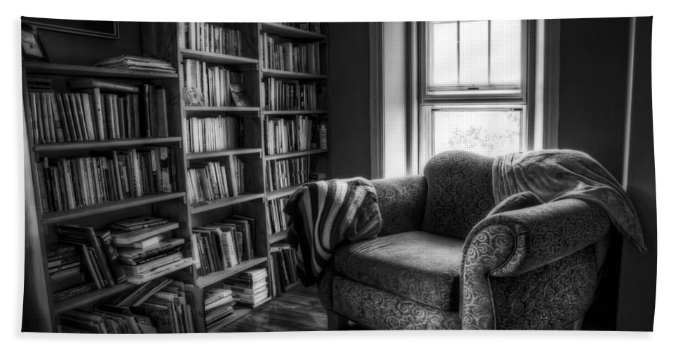 Library Hand Towel featuring the photograph Sanctuary by Scott Norris