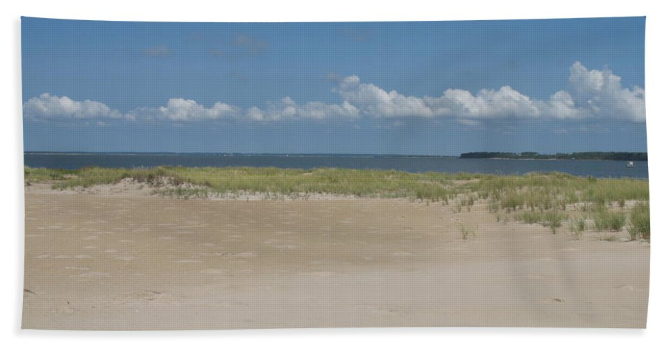 Sea Hand Towel featuring the photograph Sand And Ocean Of Assateague Island National Seashore by Christiane Schulze Art And Photography