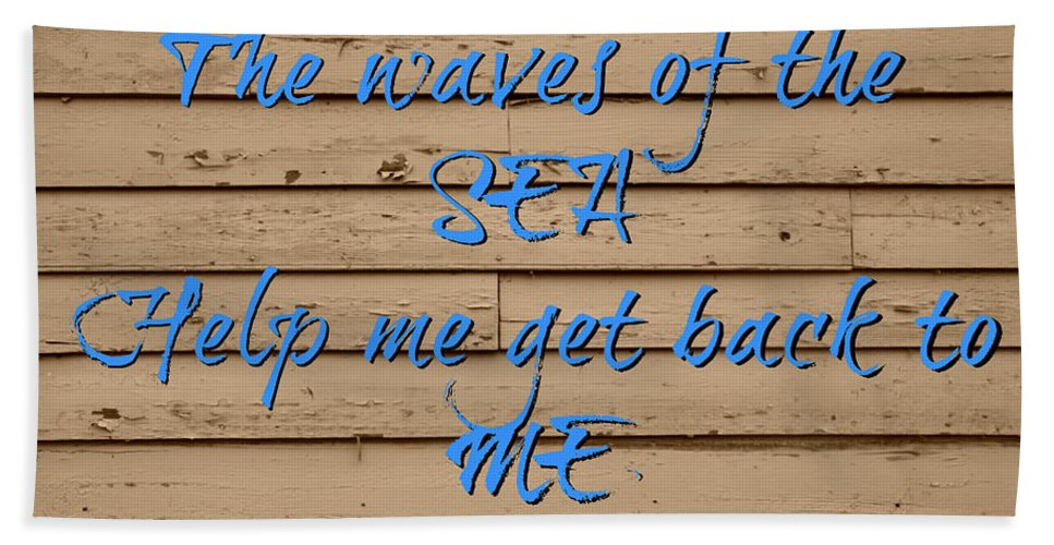 Sea Bath Sheet featuring the photograph Sand And Sea by Tina Meador