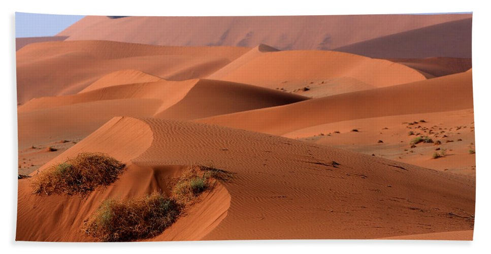 Africa Hand Towel featuring the photograph Sand Dune Sculpture by Aidan Moran