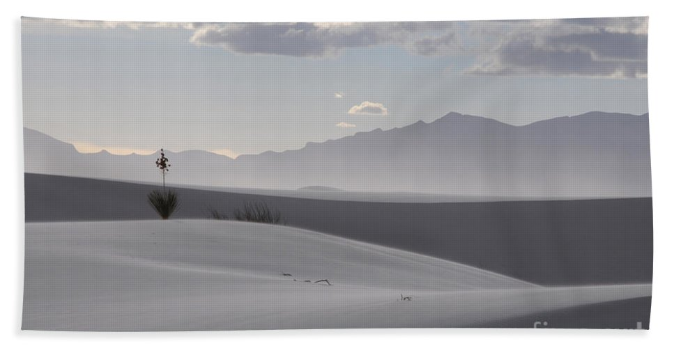 White Sands Hand Towel featuring the photograph Sand Dunes Light And Shadow by Vivian Christopher