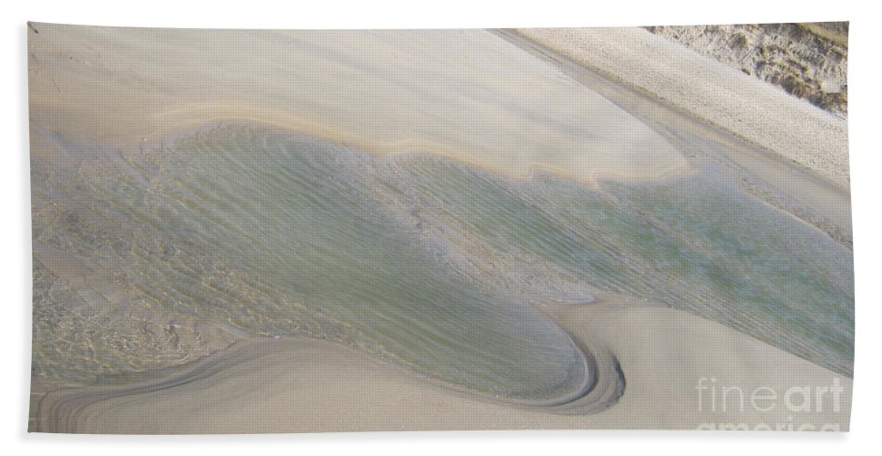 Sand Formations Bath Sheet featuring the photograph Sand Formations 2 by Heidi Sieber
