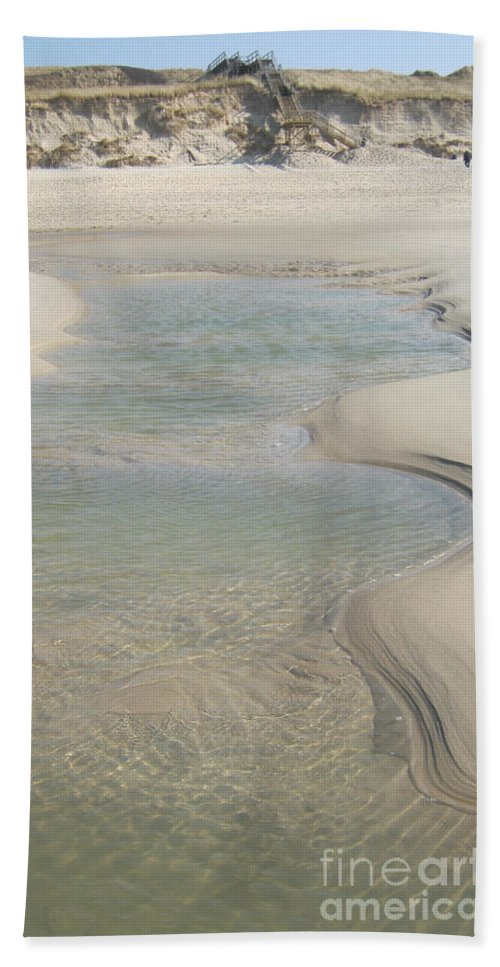 Sand Formations Hand Towel featuring the photograph Sand Formations by Heidi Sieber