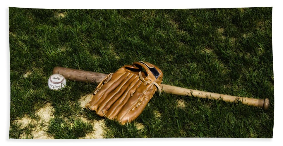 Sand Bath Sheet featuring the photograph Sand Lot Baseball by Bill Cannon