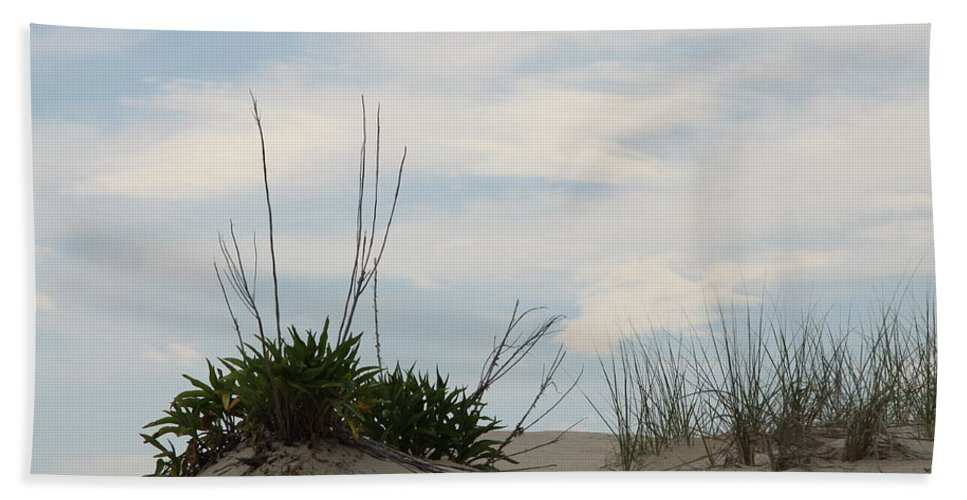 Dune Bath Sheet featuring the photograph Delaware Sand Dune by Christiane Schulze Art And Photography
