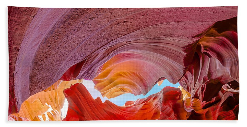 Antelope Canyon Hand Towel featuring the photograph Sandstone Chasm by Jason Chu