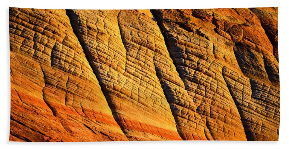 Sandstone Bath Sheet featuring the photograph Sandstone Of Time by David Lee Thompson