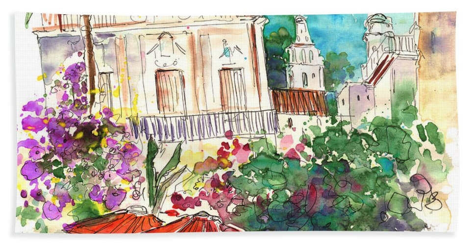 Travel Bath Sheet featuring the painting Sanlucar De Barrameda 03 by Miki De Goodaboom