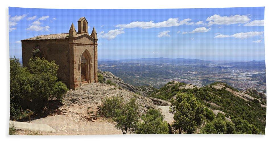 Chapel Bath Sheet featuring the photograph Sant Joan Chapel Spain by Julia Gavin