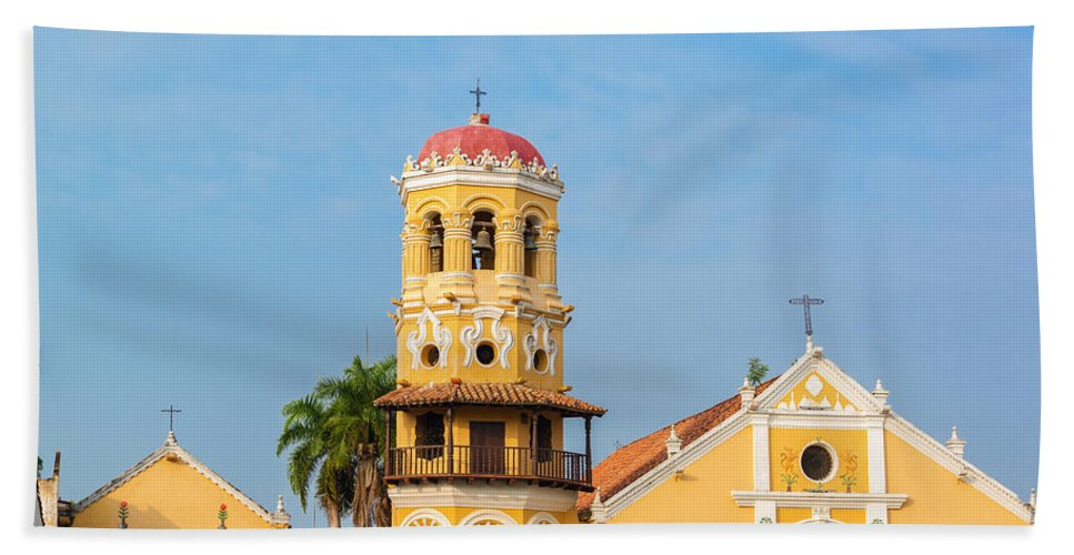 America Hand Towel featuring the photograph Santa Barbara Church by Jess Kraft