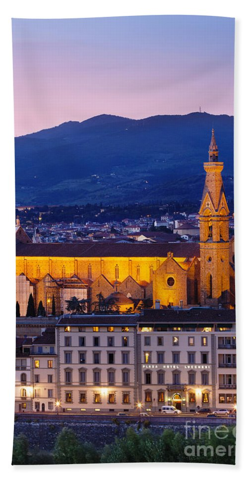 Basilica Bath Sheet featuring the photograph Santa Croce by Brian Jannsen