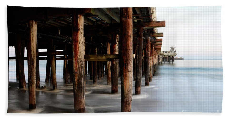 Pier Bath Sheet featuring the photograph Santa Cruz Pier California by Bob Christopher