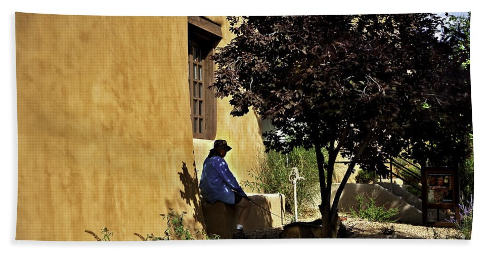 Santa Fe Bath Sheet featuring the photograph Santa Fe Afternoon - New Mexico by Madeline Ellis