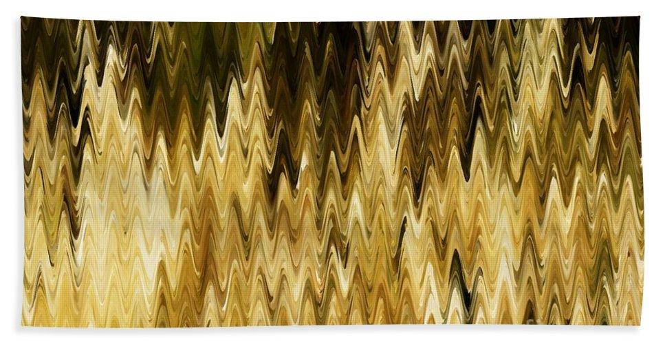 Abstract Bath Sheet featuring the digital art Santa Fe Grasses G by Tim Richards