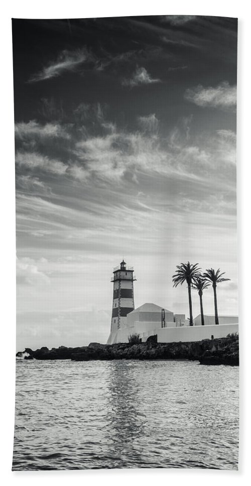 Lighthouse Hand Towel featuring the photograph Santa Marta Lighthouse I by Marco Oliveira