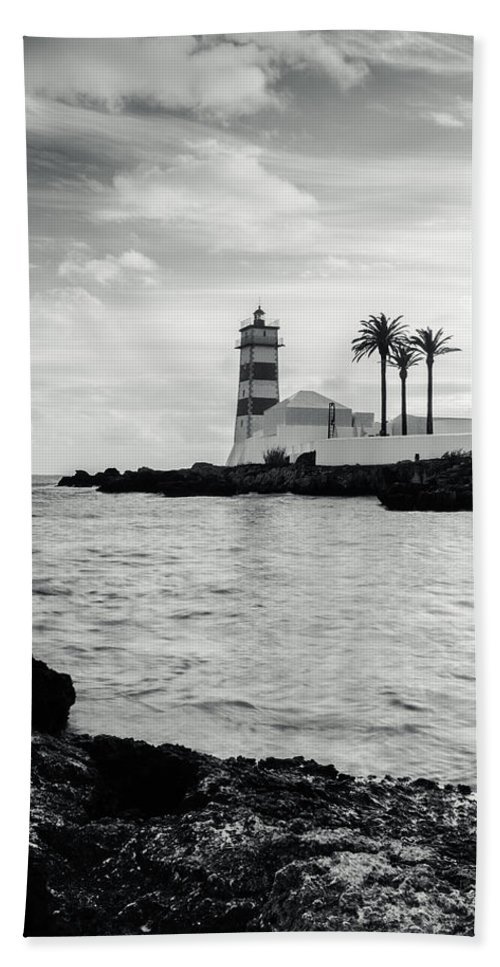 Lighthouse Hand Towel featuring the photograph Santa Marta Lighthouse II by Marco Oliveira