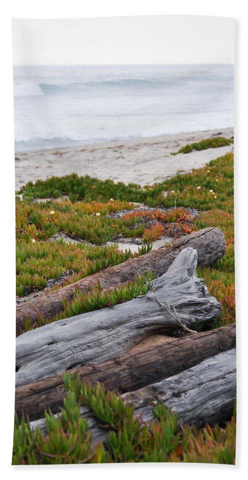Santa Monica Mountains Hand Towel featuring the photograph Santa Monica Mountains County Line Beach by Kyle Hanson