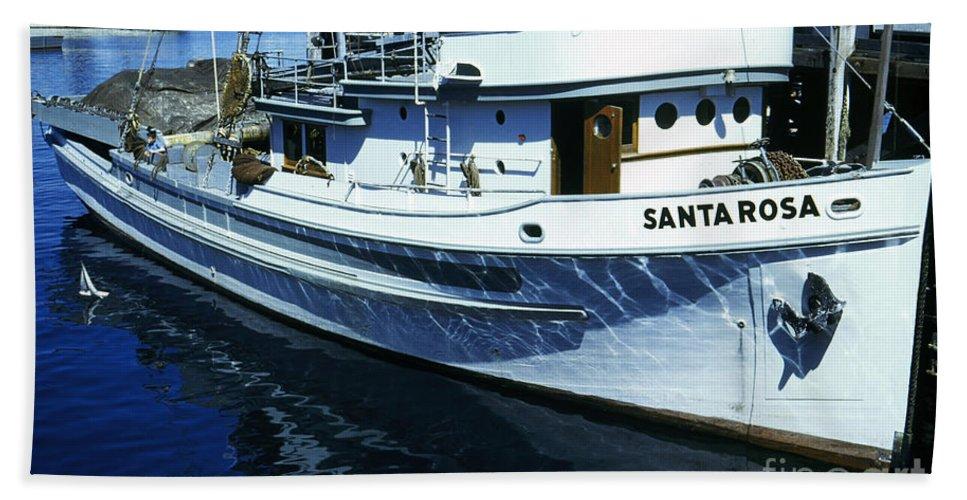 Santa Rosa Hand Towel featuring the photograph Santa Rosa Purse-seiner Fishing Boat Monterey Bay Circa 1950 by California Views Archives Mr Pat Hathaway Archives