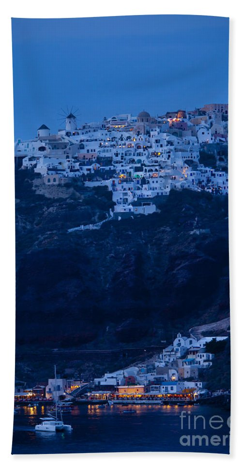 Greek Bath Sheet featuring the photograph Santorini Greece by Brian Jannsen