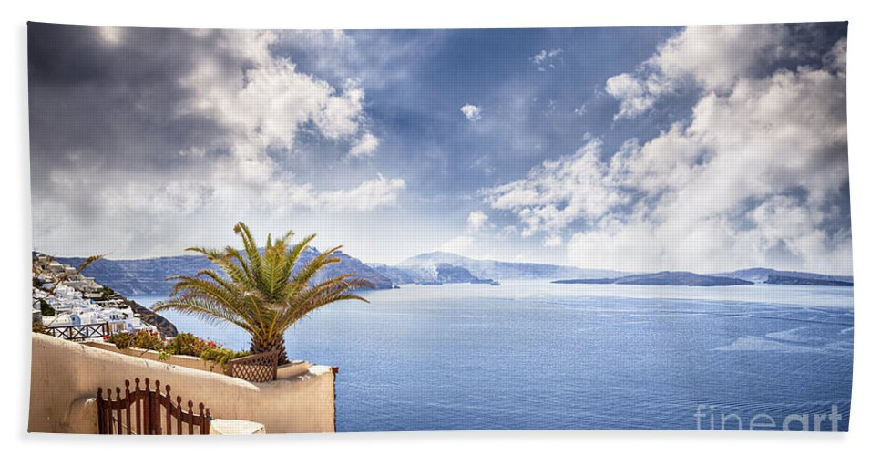 Gate Hand Towel featuring the photograph Santorini Island by Sophie McAulay