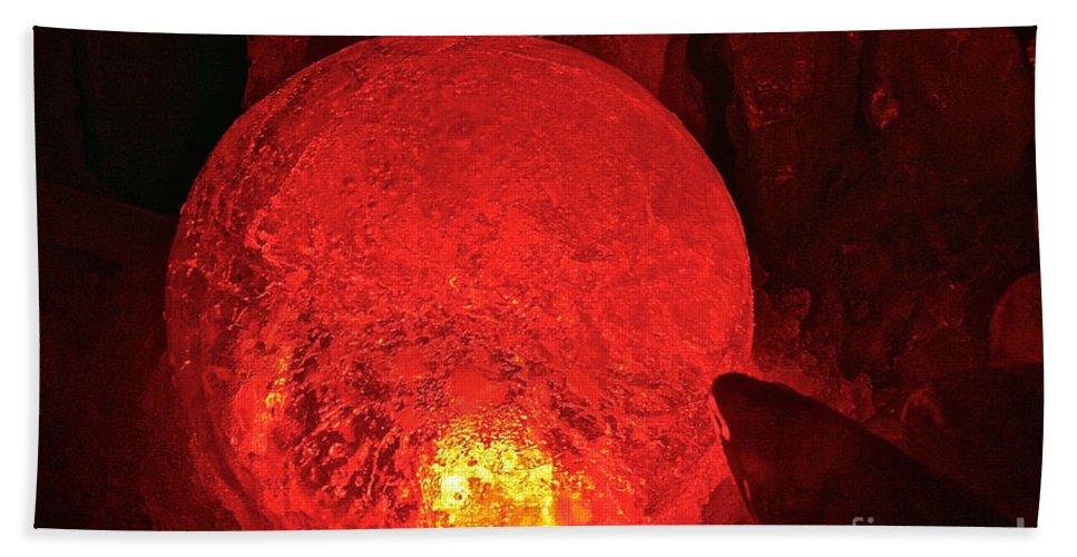 Ice Bath Sheet featuring the photograph Satan's Crystal Ball by Susan Herber