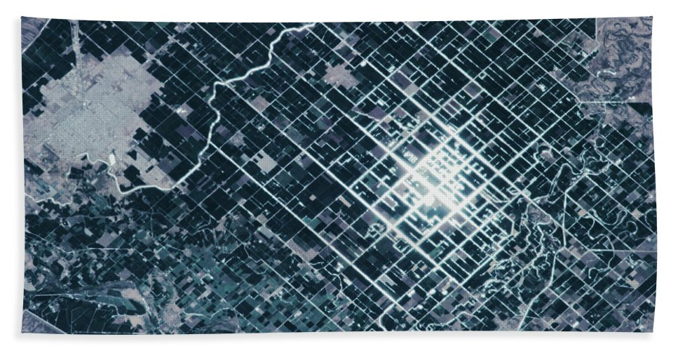 Photography Bath Sheet featuring the photograph Satellite View Of Fields In Sonora by Panoramic Images