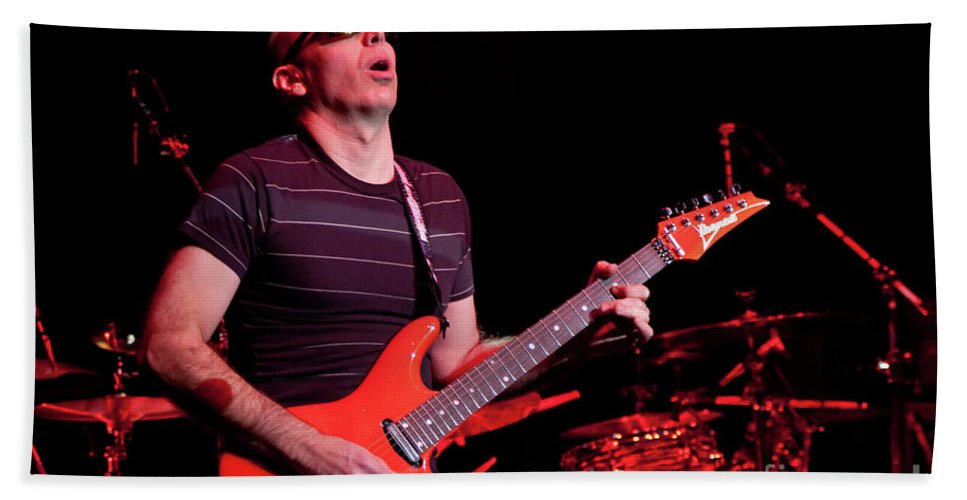 Joe Satriani Bath Sheet featuring the photograph Satriani 3235 by Timothy Bischoff
