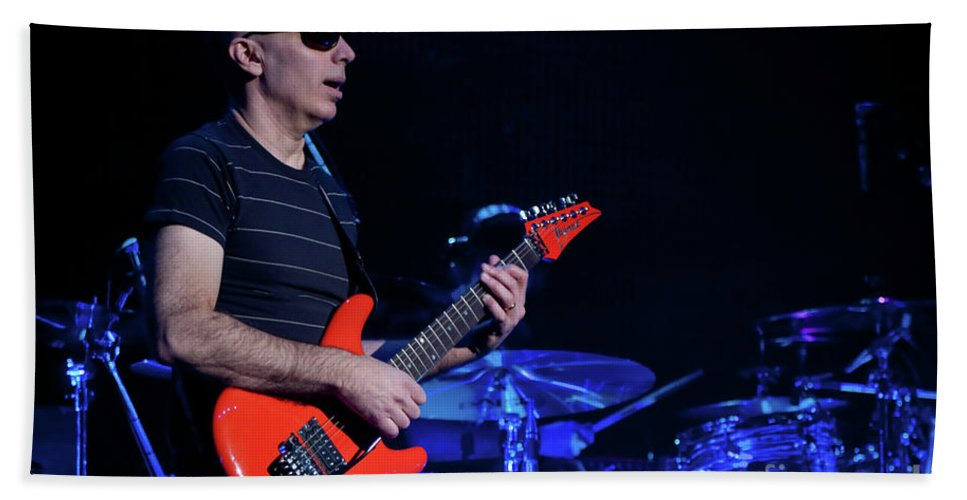 Joe Satriani Bath Sheet featuring the photograph Satriani 3368 by Timothy Bischoff