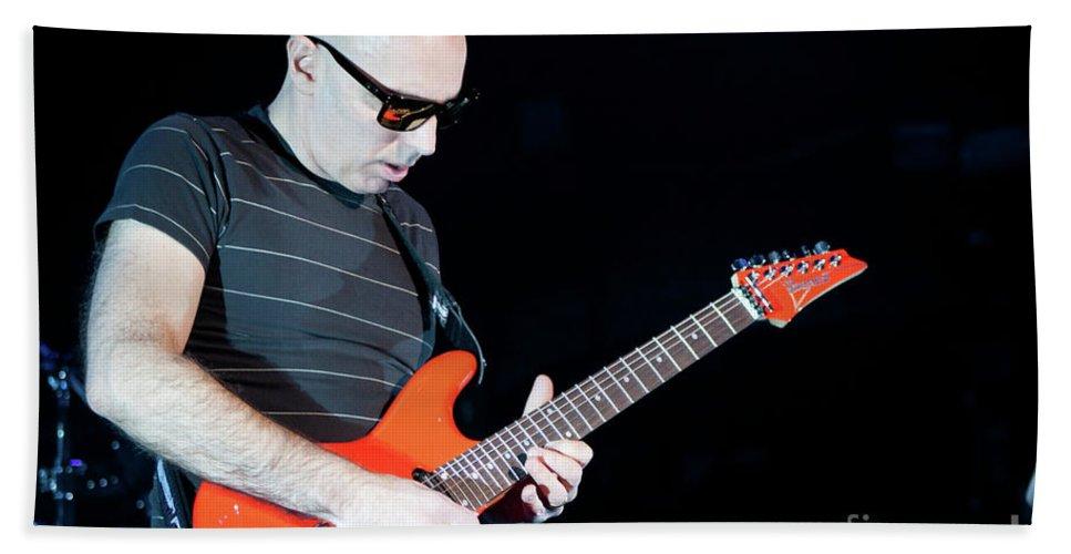 Joe Satriani Bath Sheet featuring the photograph Satriani 3377 by Timothy Bischoff