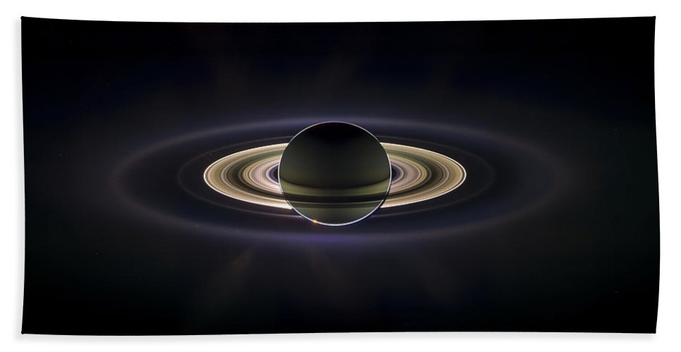 3scape Bath Towel featuring the photograph Saturn by Adam Romanowicz