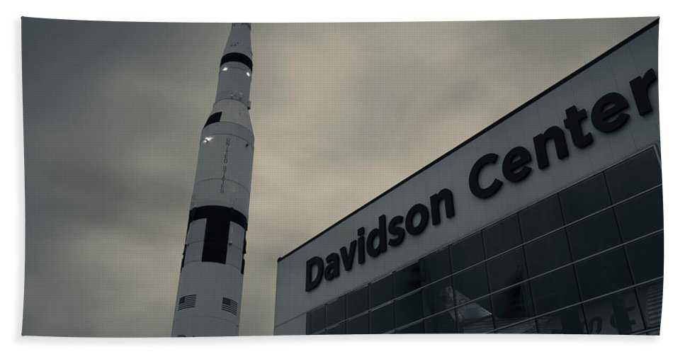 Photography Hand Towel featuring the photograph Saturn V Rocket Engine Detail, Used by Panoramic Images