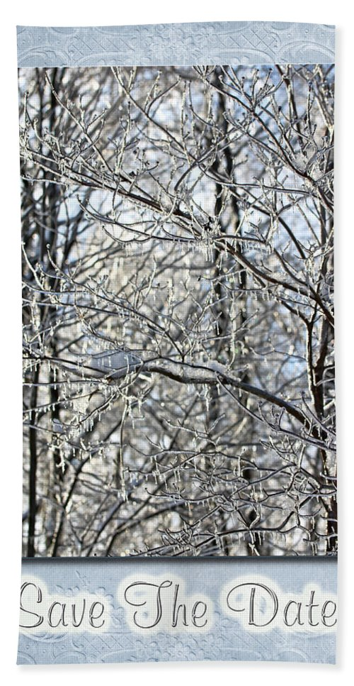 Wedding Hand Towel featuring the photograph Save The Date - Winter Wedding by Mother Nature