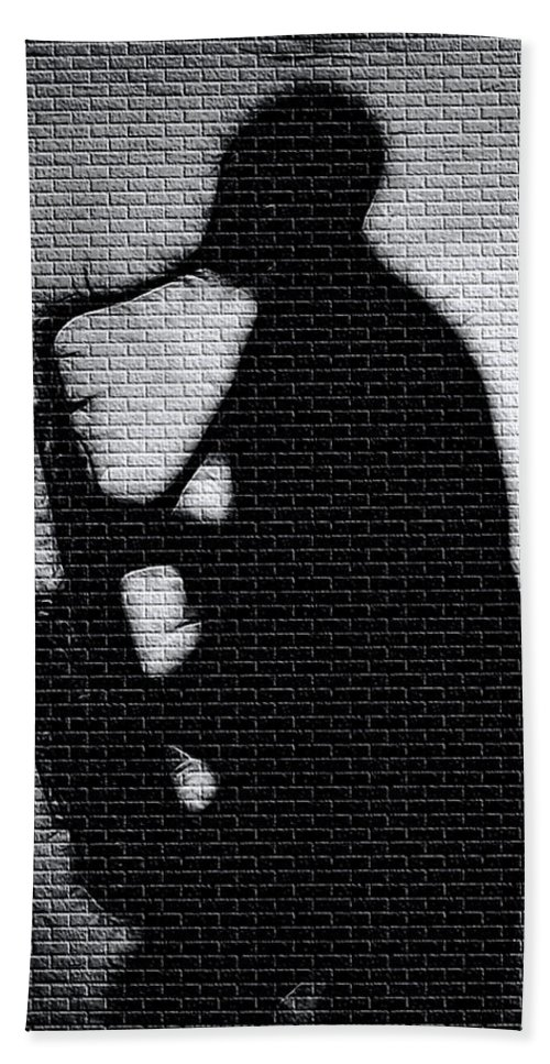 Music Bath Sheet featuring the photograph Sax On The Bricks by Terry Fiala
