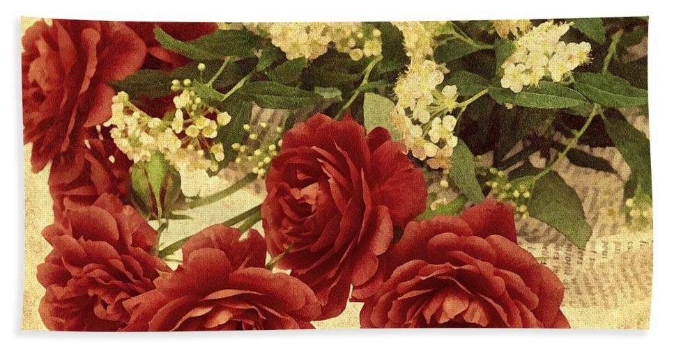 Rose Bath Sheet featuring the photograph Say You Love Me by Georgiana Romanovna