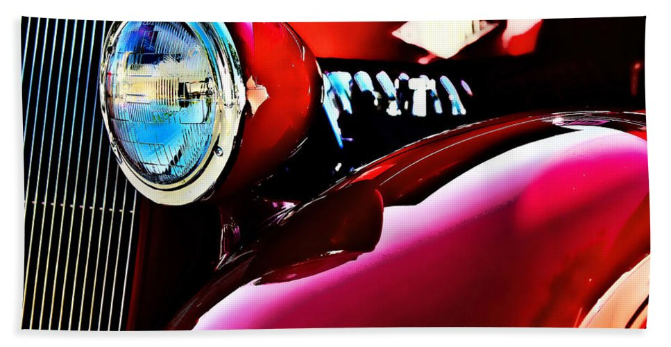American Classic Cars Hand Towel featuring the photograph Mercury Coupe by Digital Kulprits