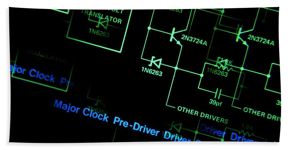 Circuit Bath Sheet featuring the photograph Schematic by Jerry McElroy