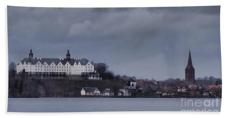 Blue Hand Towel featuring the photograph Schloss Ploen by Rawshutterbug