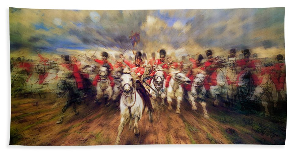 Scotland Forever Hand Towel featuring the painting Scotland Forever by Doc Braham