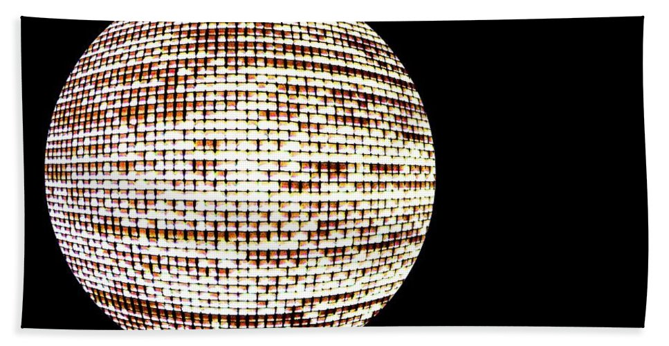 Window Bath Sheet featuring the photograph Screen Orb-19 by Larry Jost
