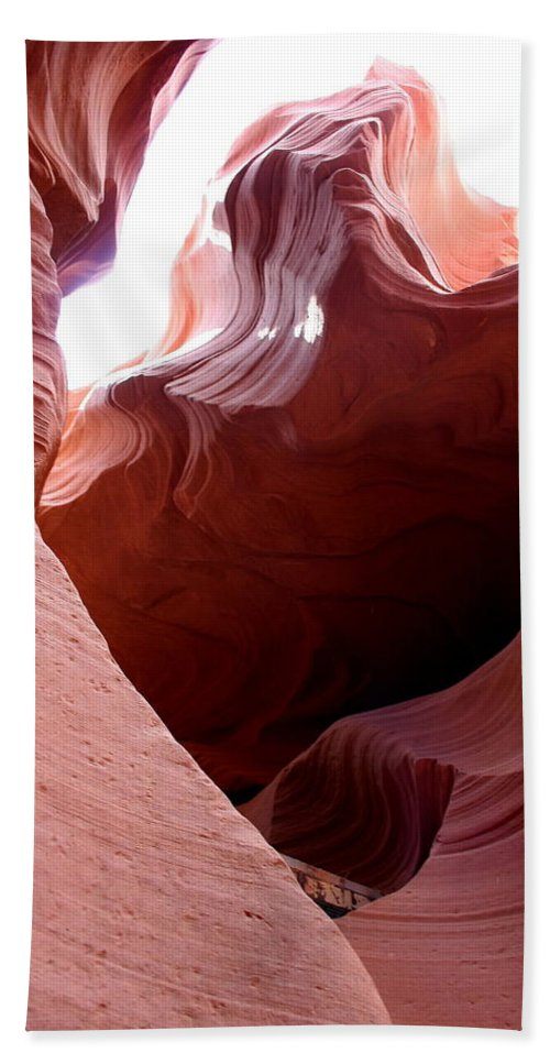 Canyon Bath Sheet featuring the photograph Sculptured Stone by Christiane Schulze Art And Photography
